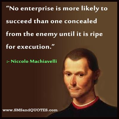 Niccolo Machiavelli image and quote