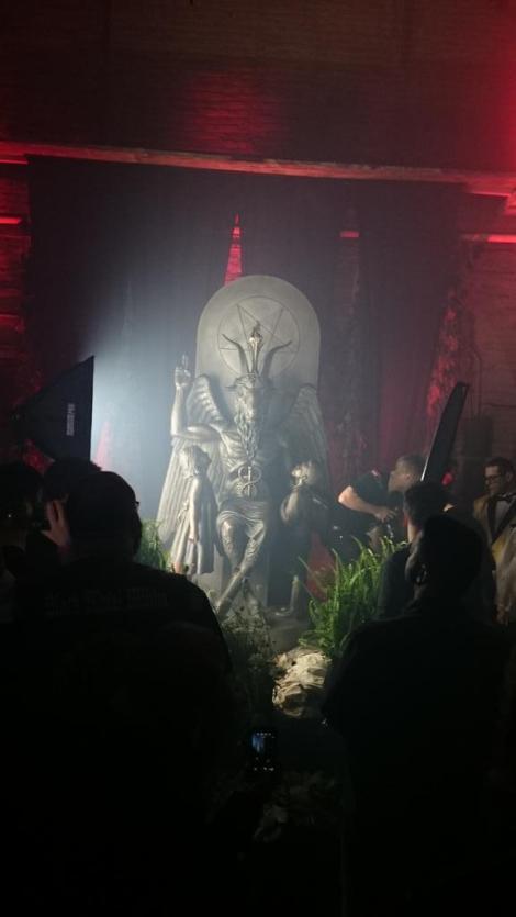Baphomet statue unveilin