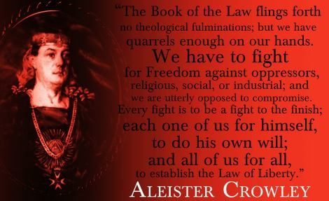 Aleister Crowley quote concerning the law of liberty